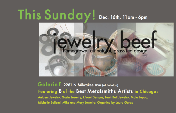 Jewelry Beef at Gallery F today!